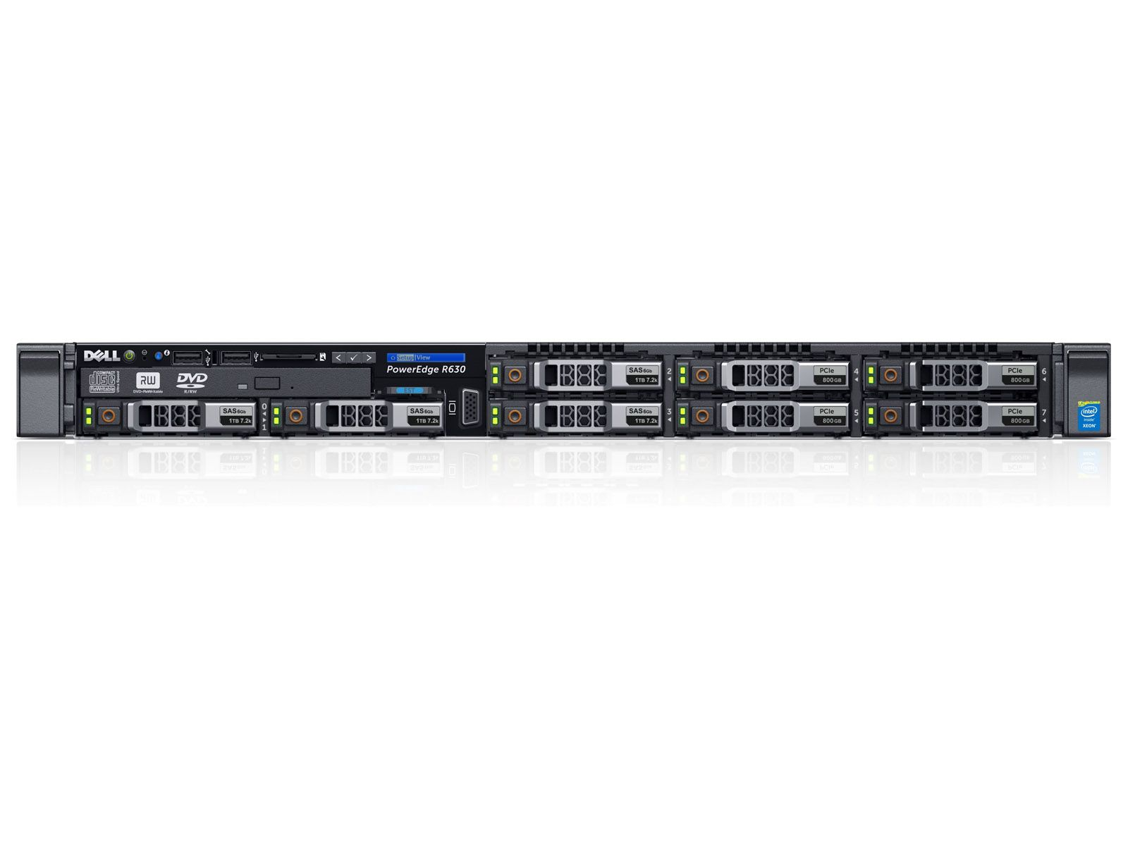 "PowerEdge R630 Dell сервер 2 Xeon® E5-2600 v3 (без CPU), без (MEM, HDD 8x 2.5"", PERC, БП) DVD"