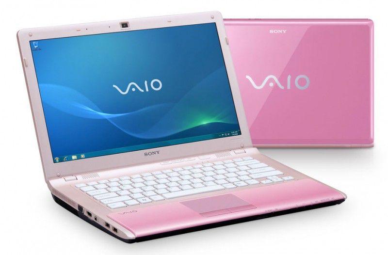 Cтильный розовый ноутбук