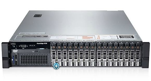 "Сервер Dell PowerEdge R720 2xE5-2609 V2/16Gb DIMM/2х146Gb 2,5""/H710p iD7En 1100W 3Y PNBD"