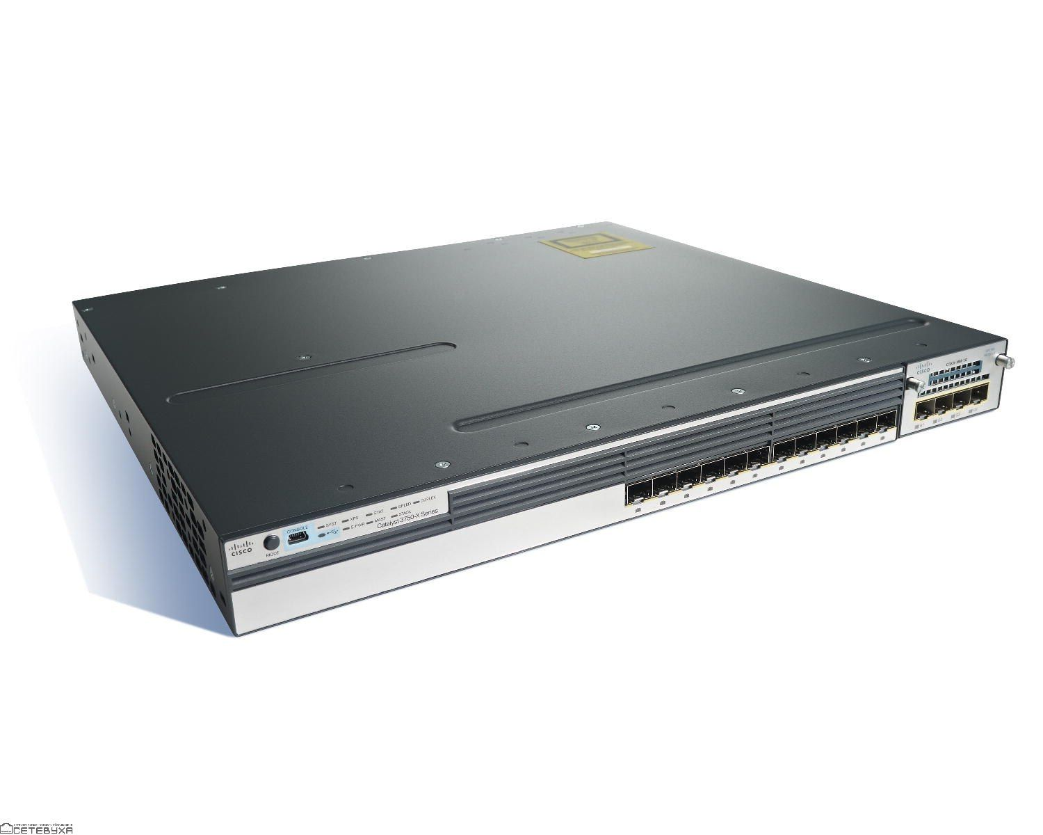 Коммутатор Cisco WS-C3750X-12S-S Catalyst 3750X 12 Port GE SFP IP Base-WS-C3750X-12S-S