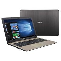 Asus X541SA PQC N3710 2Gb 500Gb Intel HD Graphics 405 15,6 HD BT Cam 2600мАч Win10 Черный/Золотистый X541SA-XX327T 90NB0CH1-M04750